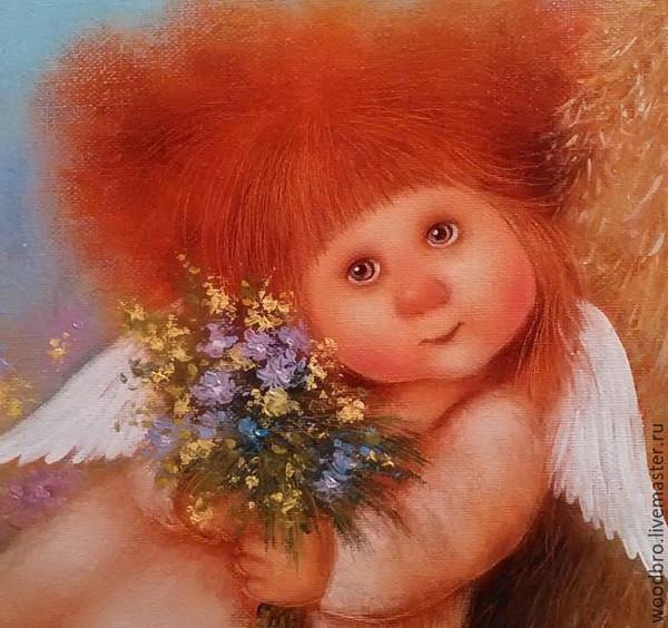 Своими, картинка с днем рождения ангел