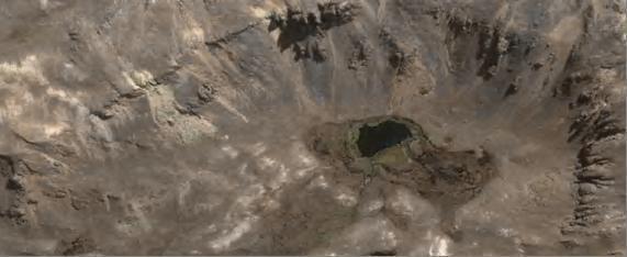 Фото 9. Источник горячей воды на вершине потухшего вулкана горы Yunguyo (Олимп)