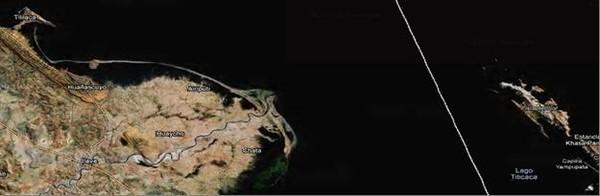 Фото.3. Южная часть Большого озера Титикака.
