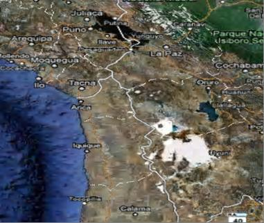 Размер поля атлантов на плато Альтиплано: 184 х 368 х 552 х 736 км.