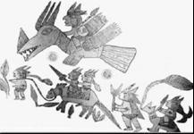 Марш воинов: продвижение на НЛО, пешком, на лошадях и на ослах.