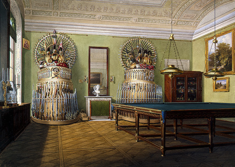Эдуард Гау Бильярдная комната в Зимнем дворце