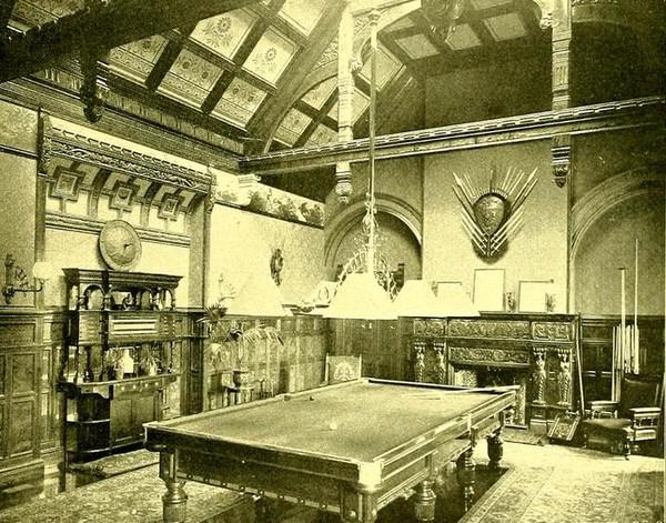 Бильярдные залы в европейских замках фотографии начала ХХ века