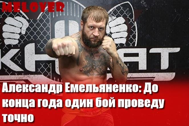 Александр Емельяненко: До конца года один бой проведу точно