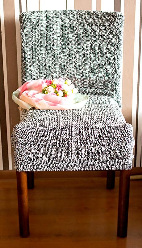Еврочехол Чехол на стул со спинкой Коста Серый Отзыв