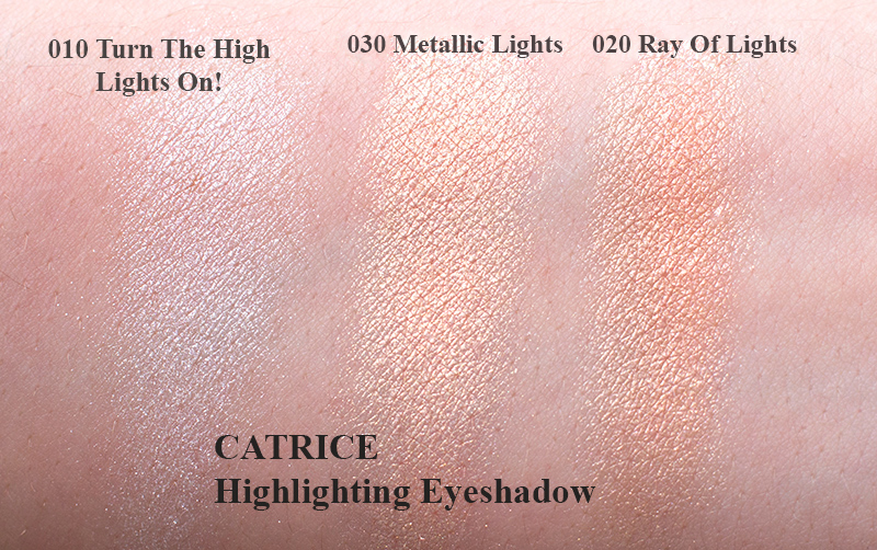 Catrice матовые тени тени хайлайтеры трио теней для бровей Свотчи