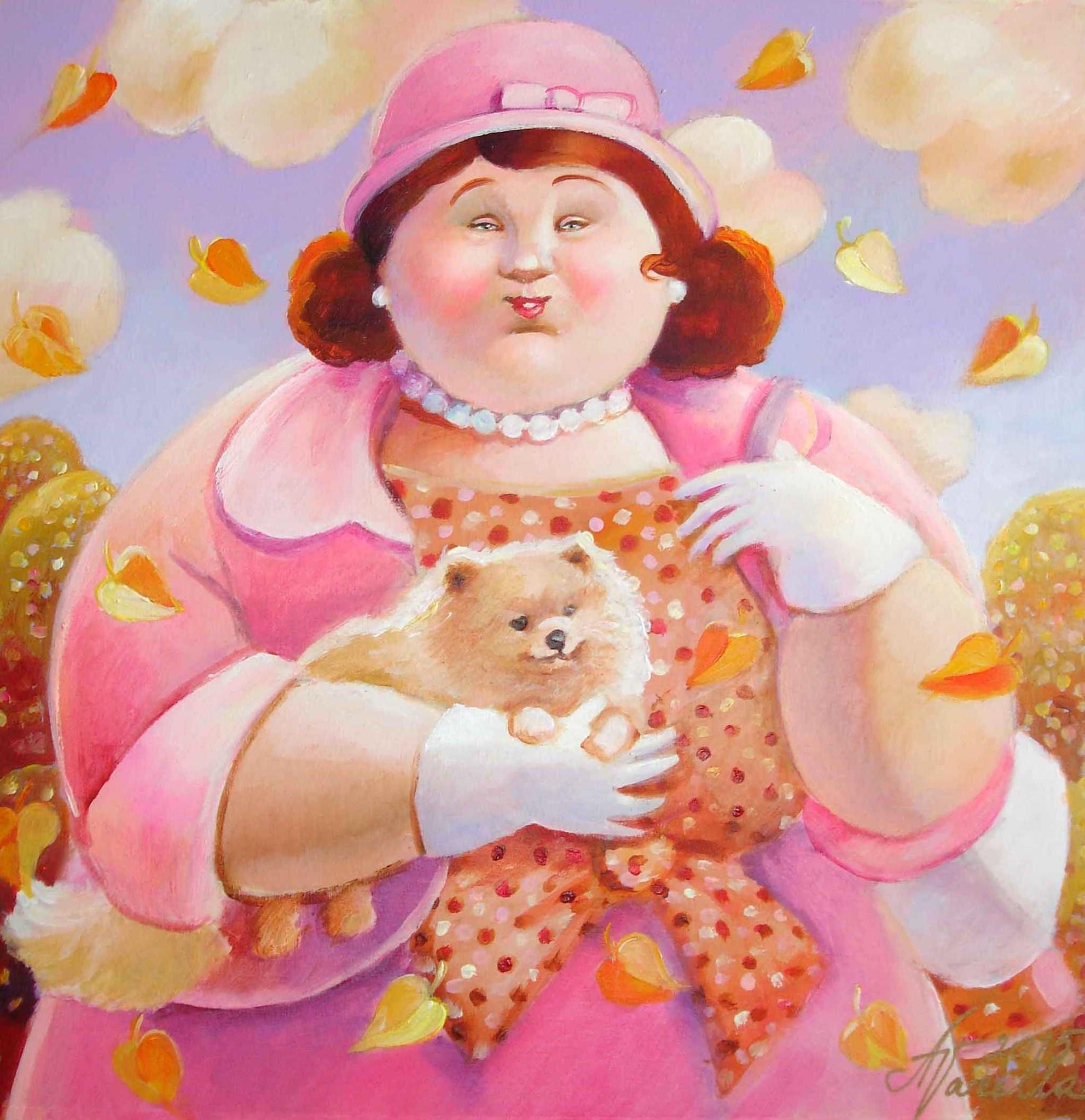Милая толстушка картинка