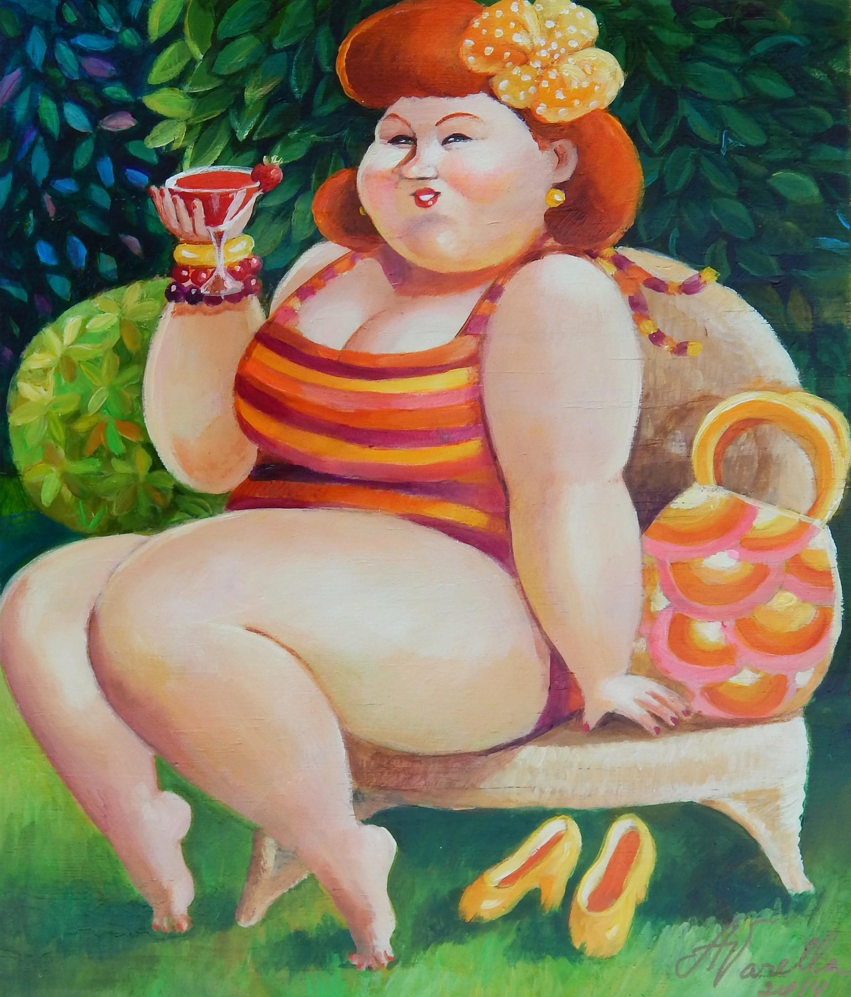 Прикольные картинки толстушек на аву