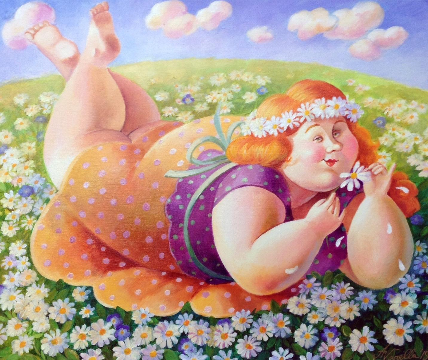 Женщины детьми, картинки толстух прикол
