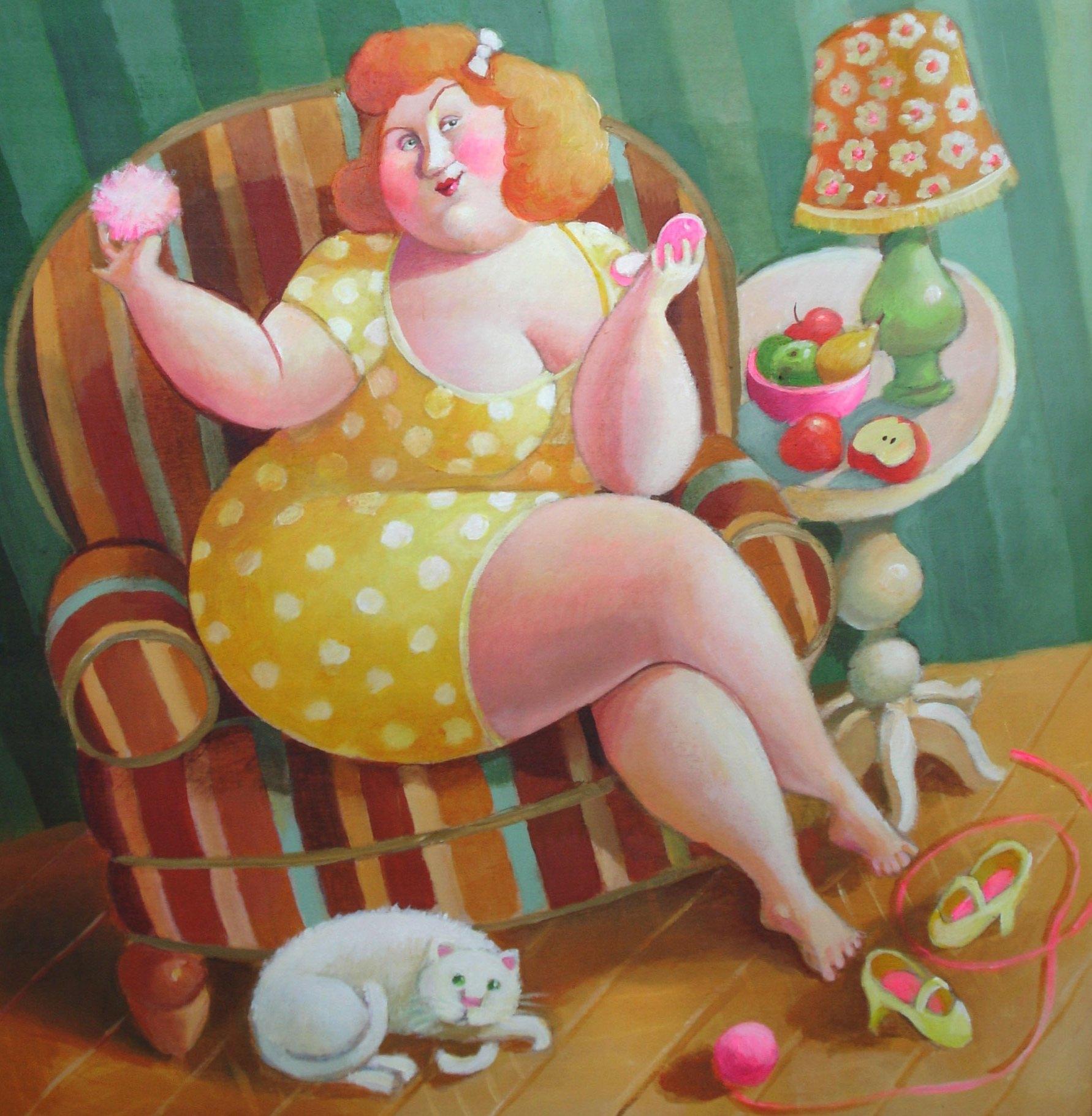 Живые картинки толстушки