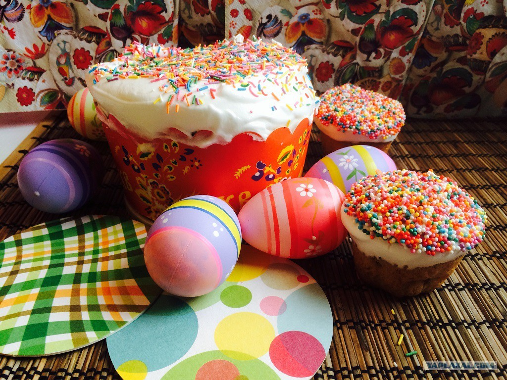 большого фото пасхальных яиц и куличей работ