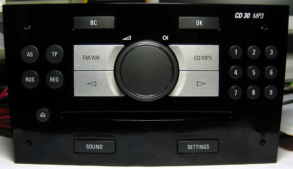 opel autoradio cd 30 mp3 (auto)