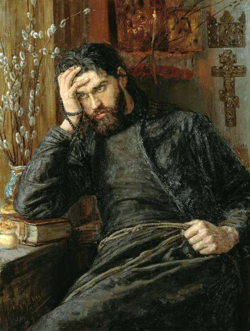 Константин Савицкий — Инок, 1897 г. Пензенская картинная галерея им. К. А. Савицкого