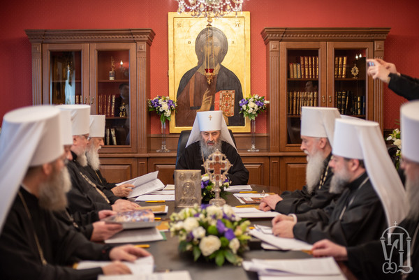 Заседание Священного Синода Украинской Православной Церкви