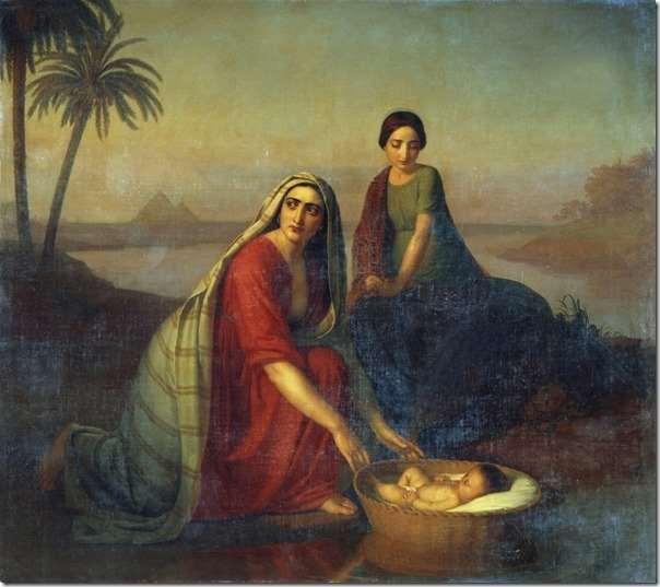 А.В. Тыранов. Моисей, опускаемый матерью на воды Нила. 1839-42 гг.