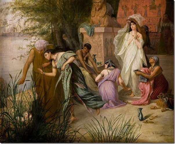 Флавицкий Константин Дмитриевич. Нахождение Моисея дочерью фараона