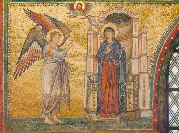 Мозаика Благовещение Санта-Мария-Мадджоре. 1295 г.