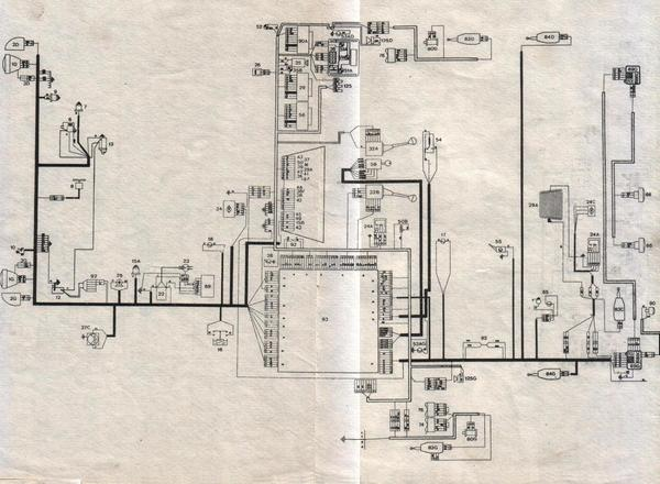 Электросхема из книги Peugeot