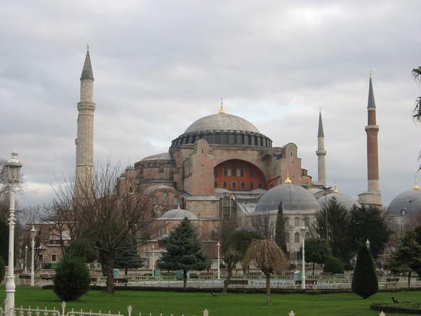 Вид на Софию с площади Султанахмет
