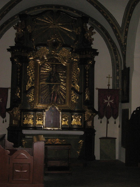 Церковь была построена рыцарями Мальтийского ордена