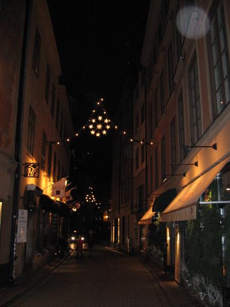 Вестерлонгатан - торговая улица Старого города вечером