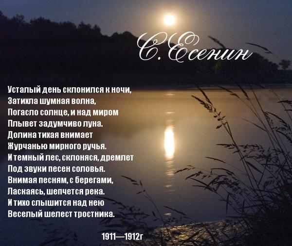 для стихи о ночи и луне Любого