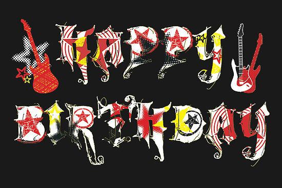 Рок день рождения открытка