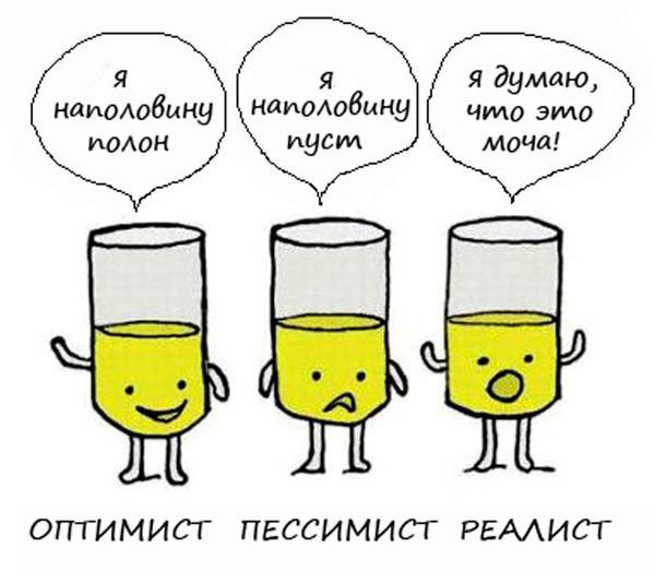 Прикольные картинки оптимист и пессимист