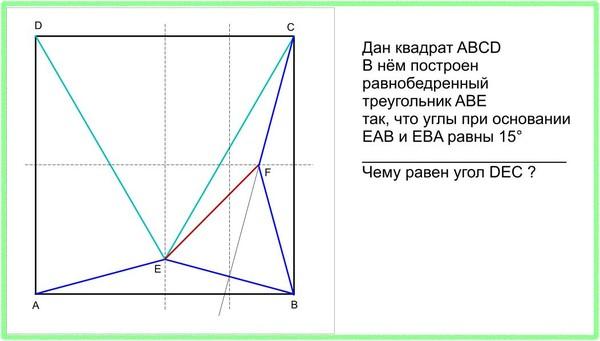 Задача - Дан квадрат ABCD-решение