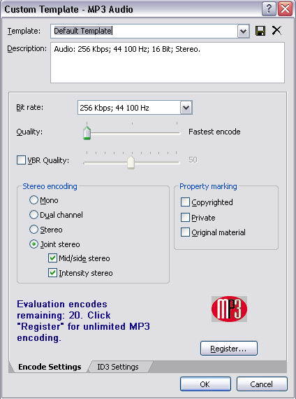 Sound Forge - plugin MP3