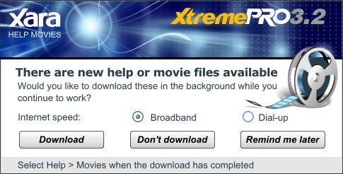 XaraXtreme - movie download