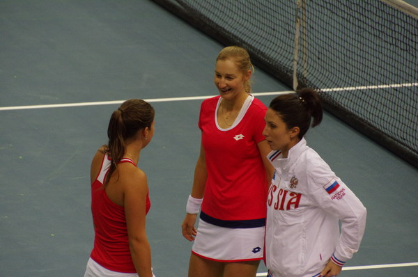 Дарья Касаткина, Екатерина Макарова и Анастасия Мыскина