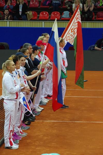 Матч плей-офф Кубка Федерации между Россией и Белоруссией