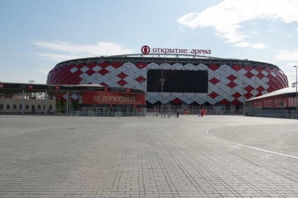 Вместимость стадиона «Открытие Арена» — 45 000 человек