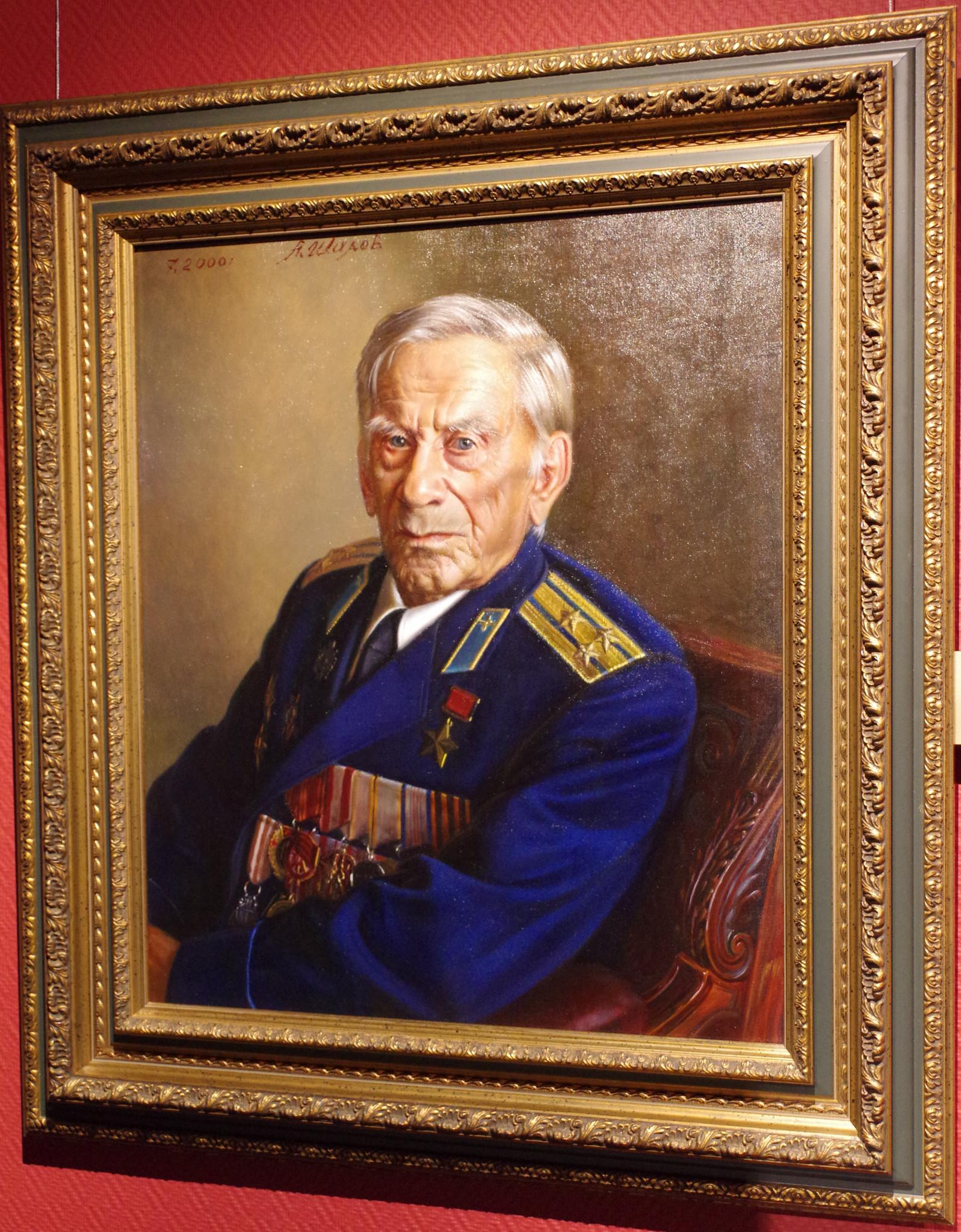 Герой Советского Союза Василий Борисович Емельяненко. Александр Шилов, холст, масло, 2000
