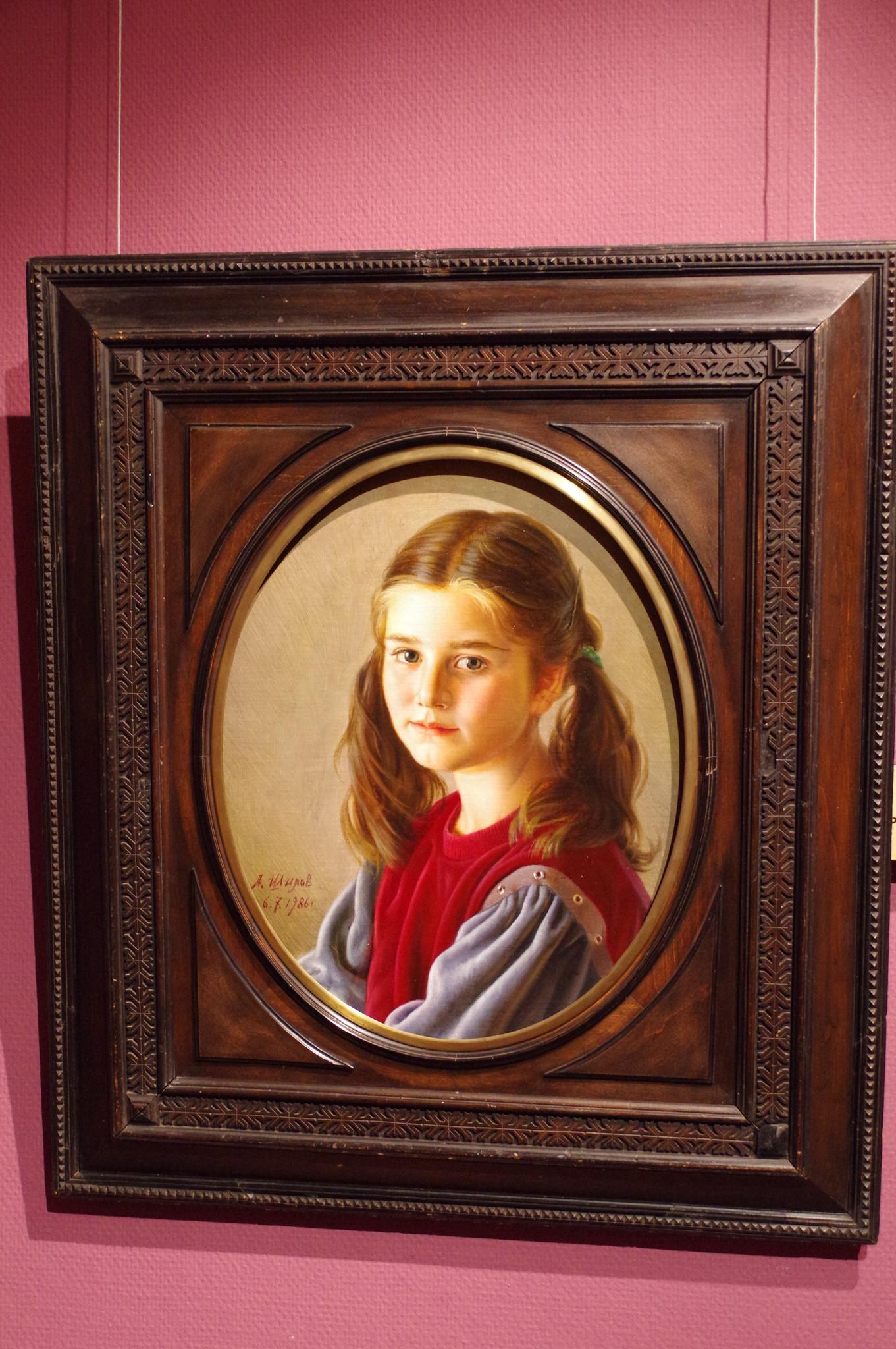 Портрет дочери. Александр Шилов, бумага, пастель, 1986