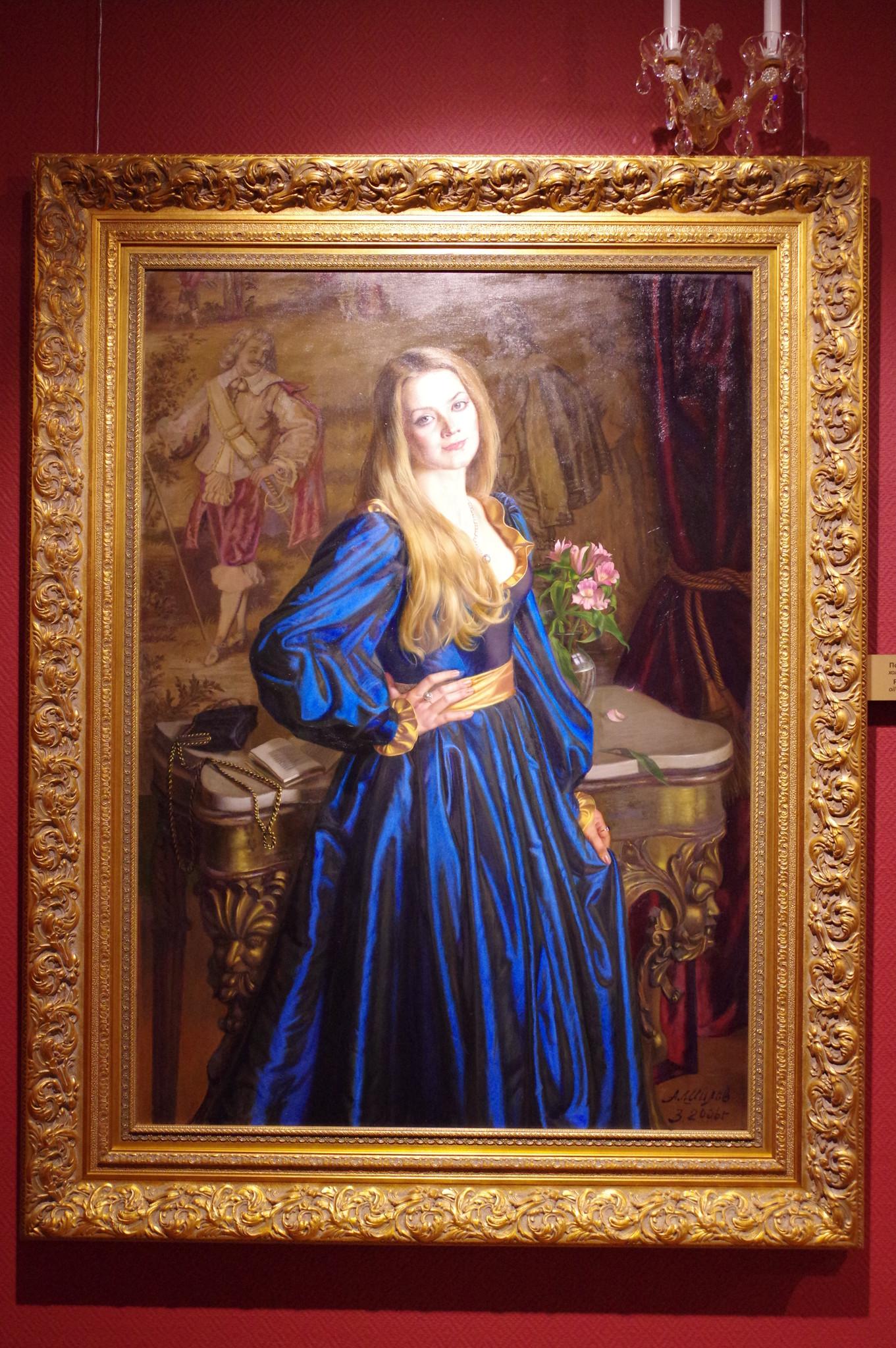 Полина Серова. Александр Шилов, холст, масло, 2006