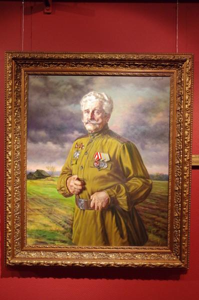 Они сражались за Родину (Участник военного парада 7 ноября 1941 года В.С. Чумаков) Александр Шилов. Холст, масло, 2004