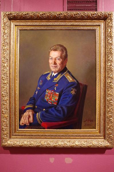 Герой Советского Союза, генерал-полковник, лётчик Н.Т. Антошкин. Александр Шилов, холст, масло, 2012