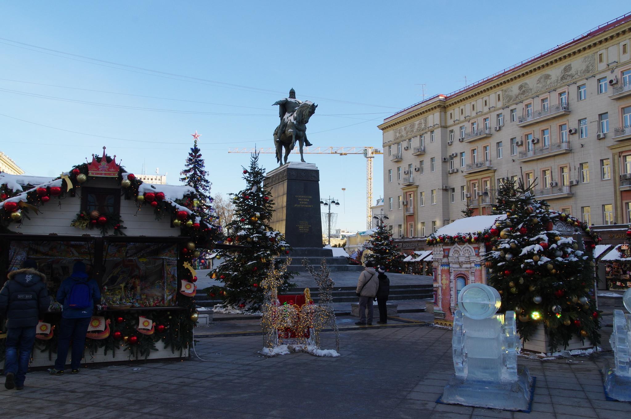 Скульптурный памятник Юрию Долгорукому на Тверской площади