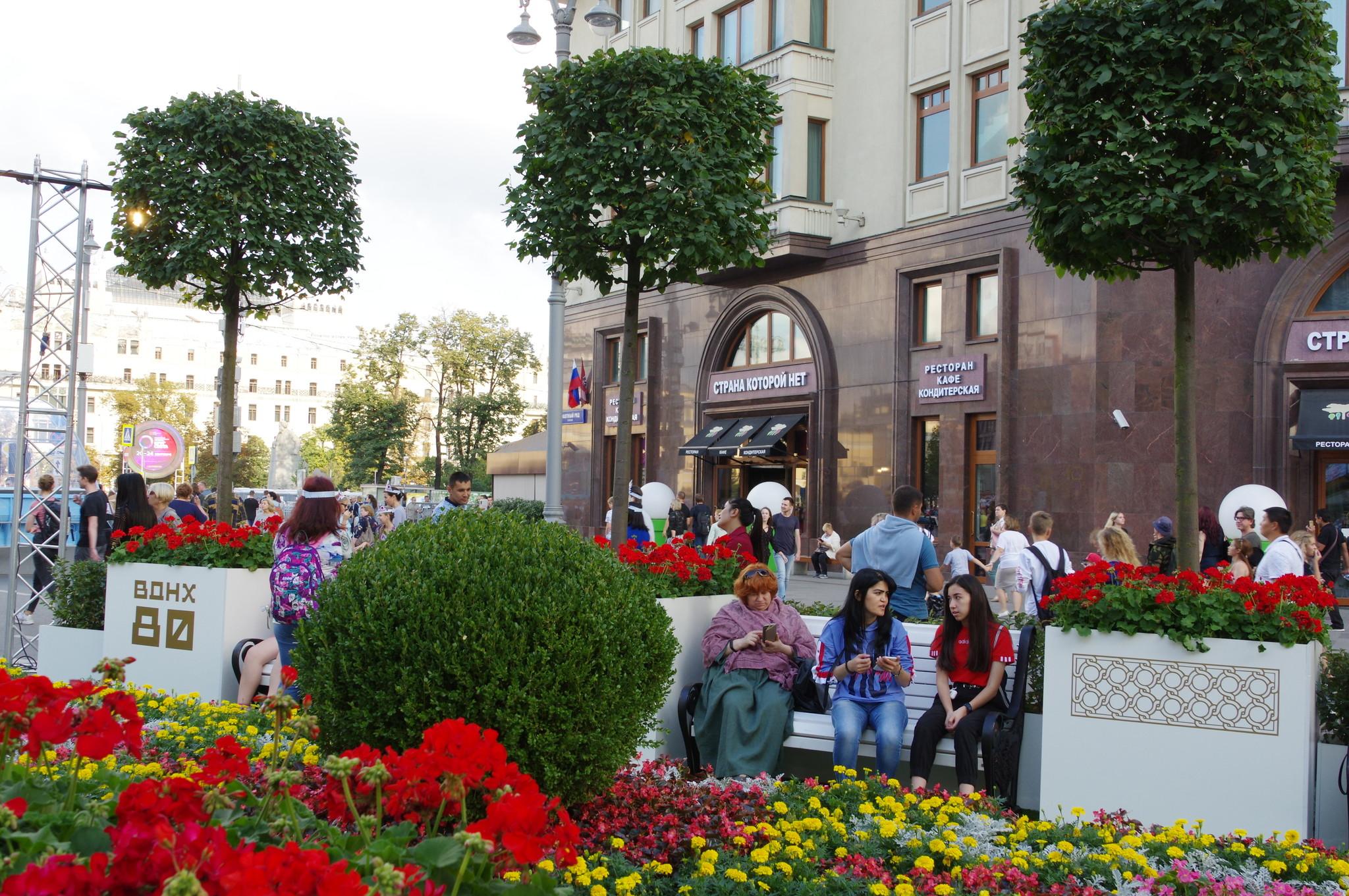 Улица Охотный Ряд. Фестиваль «Цветочный джем»