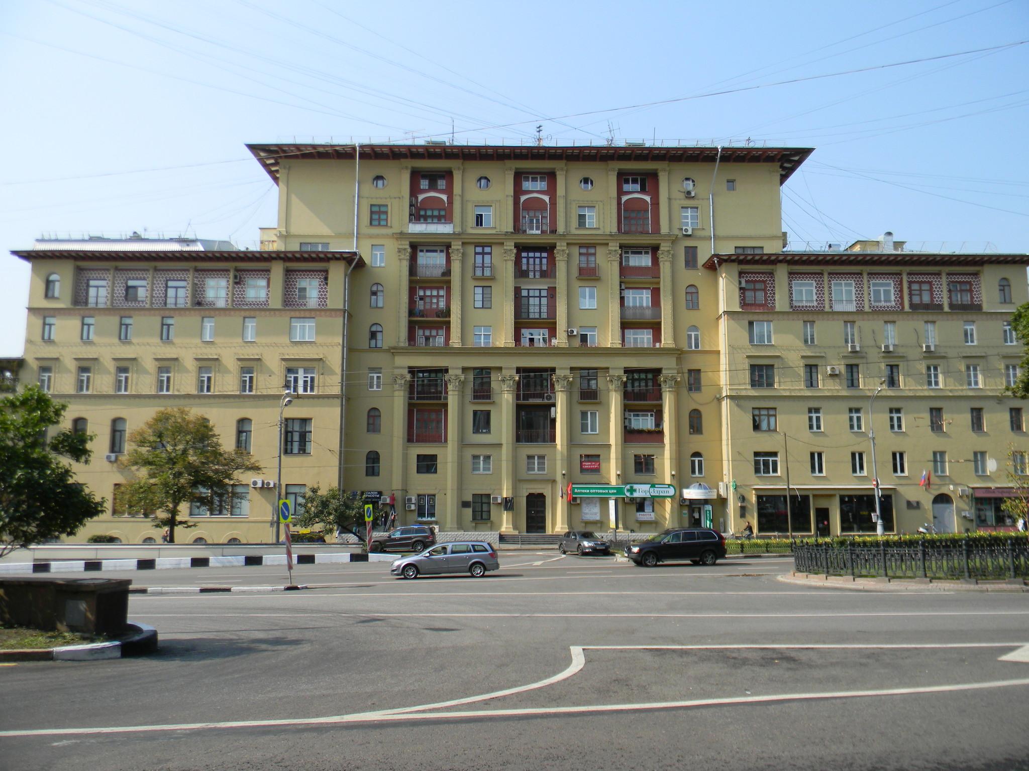 «Дом полярников», где с 1938 по 1983 год жил первый Герой Советского Союза Анатолий Васильевич Ляпидевский