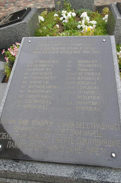 Останки советских воинов были перезахоронены на территории кафедрального собора Святого Александра Невскогов центре Симферополя