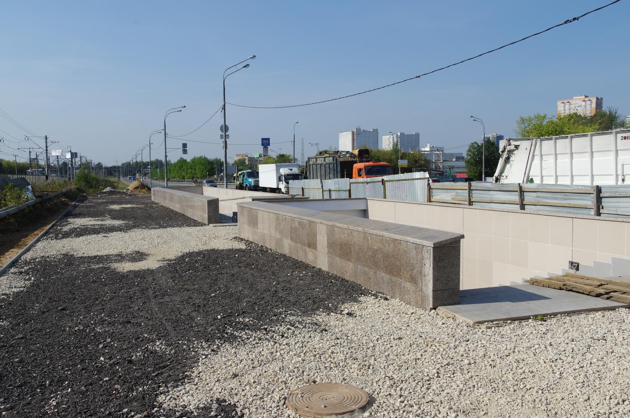 Строительство подземного перехода через Лианозовский проезд у платформы Лианозово