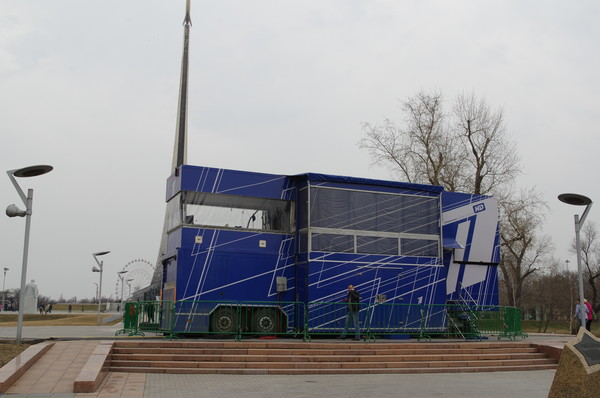 Первый Канал. Передвижная студия прямого вещания на Аллее Космонавтов
