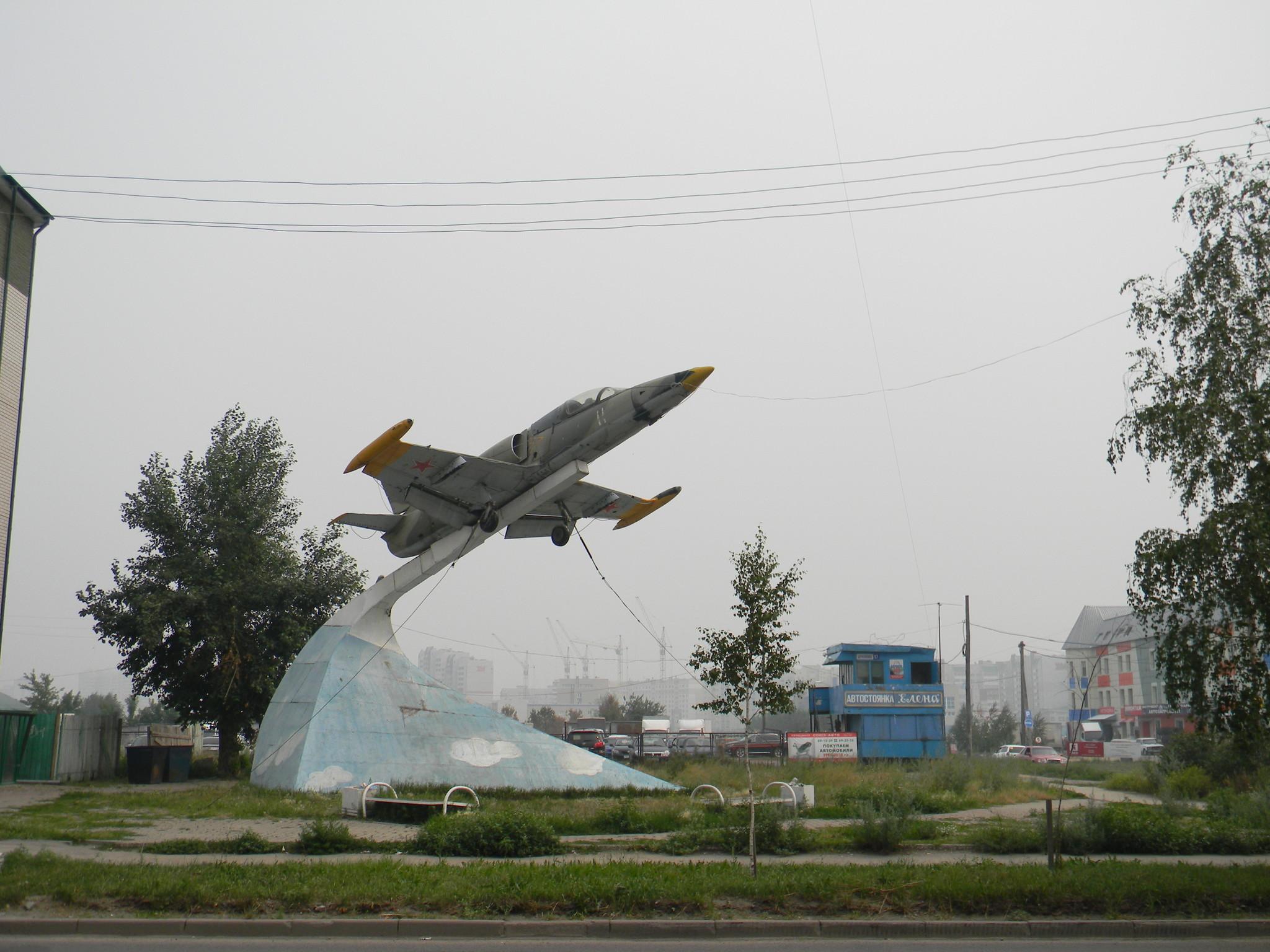Реактивный учебно-боевой самолёт Л-39 «Альбатрос» в Барнауле