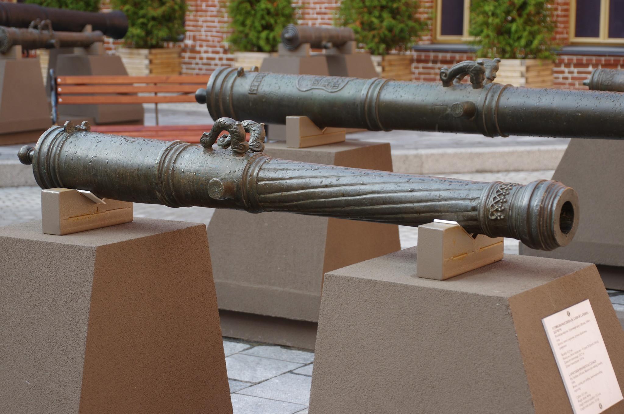 2-гривенковая пищаль длиной 2 аршина без чети. Пушечный двор в Москве. 1640-е годы. Калибр: 63,5 мм