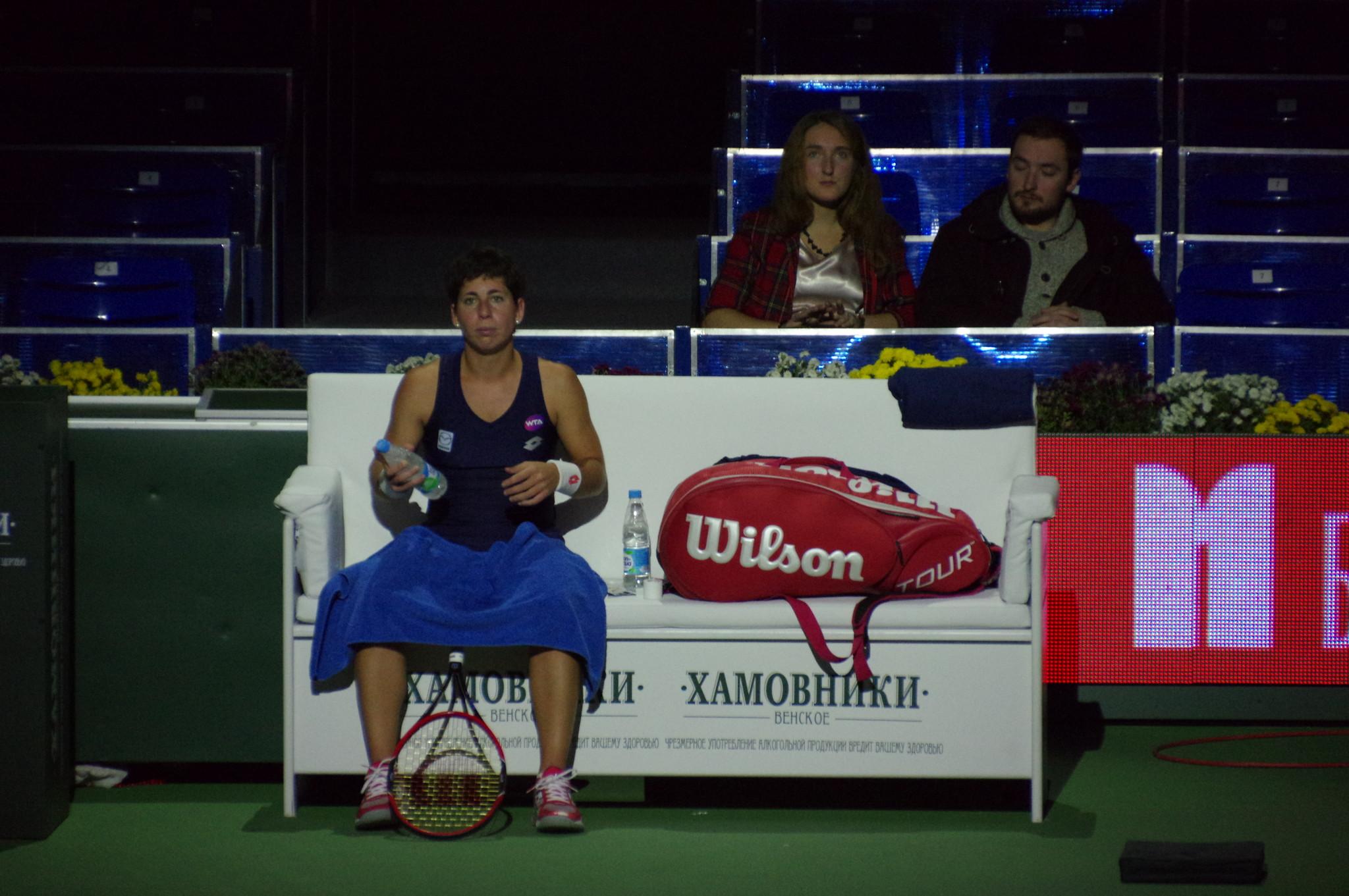 Карла Суарес-Наварро на Международном теннисном турнире «ВТБ Кубок Кремля»