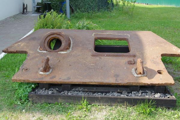 Фрагмент корпуса танка Т-34 выпуска 1943 года (верхний носовой лист)