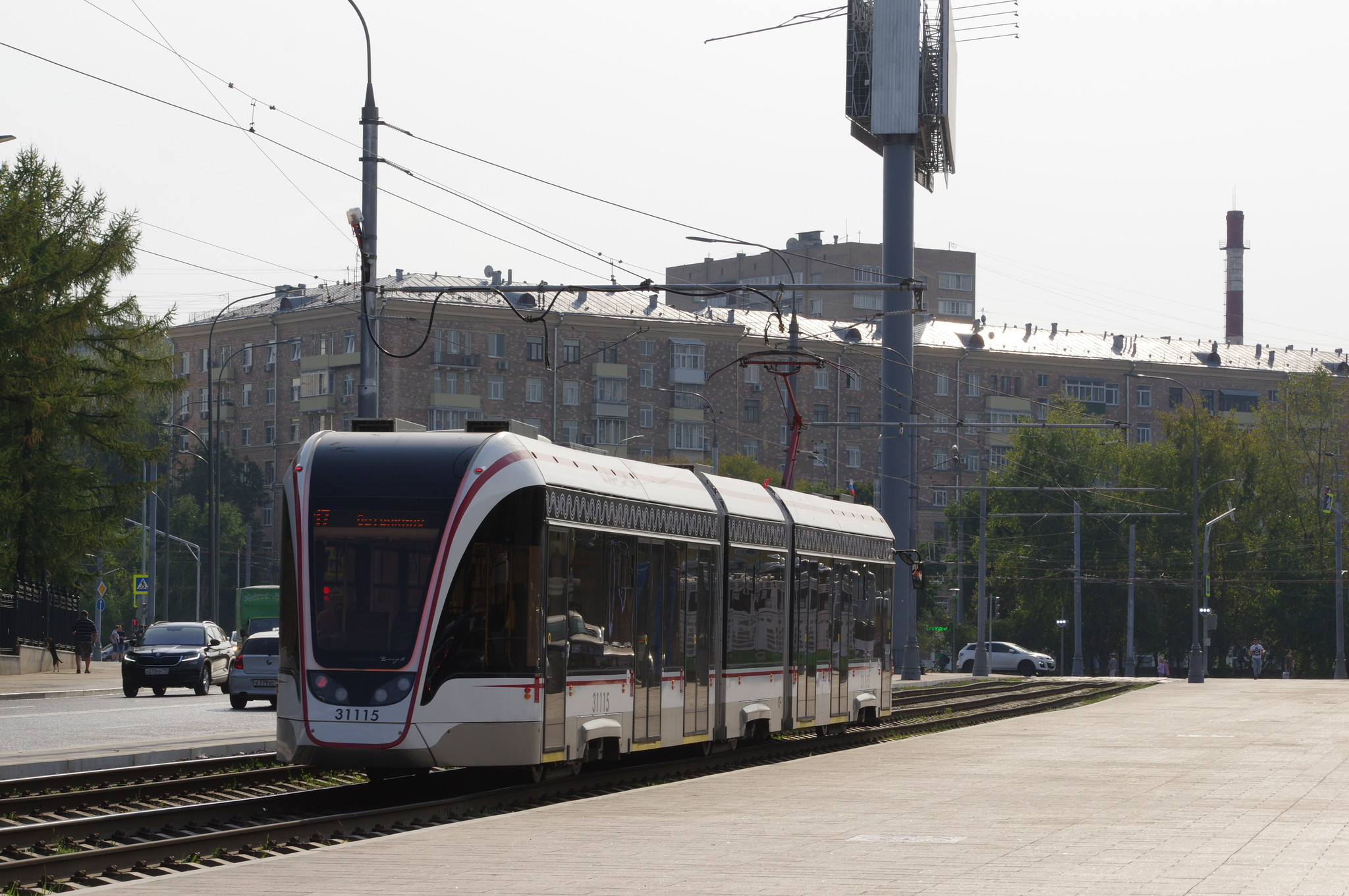 Трёхсекционный трамвай 71-931М «Витязь-М» № 31115